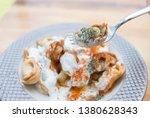 turkish traditional manti food. ... | Shutterstock . vector #1380628343