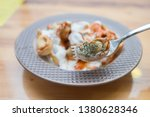 turkish traditional manti food. ... | Shutterstock . vector #1380628346