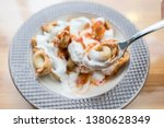turkish traditional manti food. ... | Shutterstock . vector #1380628349