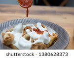 turkish traditional manti food. ... | Shutterstock . vector #1380628373