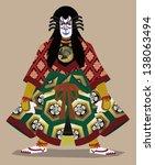 Traditional Japanese Kabuki...