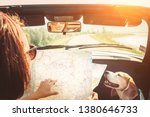 woman traveling with her lovely ... | Shutterstock . vector #1380646733