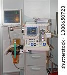 anaesthetic machine and patient ... | Shutterstock . vector #1380650723
