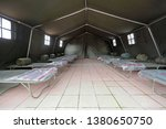 tent shelter with temporary... | Shutterstock . vector #1380650750
