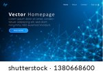 blue web homepage template with ... | Shutterstock .eps vector #1380668600