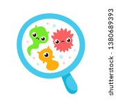 bacterial microorganism in a... | Shutterstock .eps vector #1380689393