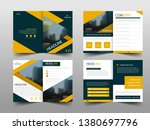 yellow black triangle abstract... | Shutterstock .eps vector #1380697796