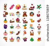 set of christmas icons | Shutterstock .eps vector #138070859