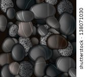 Black Pebble Stones Background...