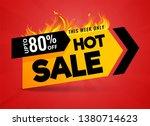 hot sale price offer deal... | Shutterstock .eps vector #1380714623