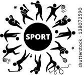 world of sports. vector... | Shutterstock .eps vector #138072590