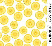 banana round pieces. seamless... | Shutterstock .eps vector #1380735536
