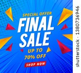 final sale banner template... | Shutterstock .eps vector #1380736946