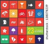 23 summer icons | Shutterstock .eps vector #138078239