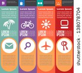 four steps for infographics... | Shutterstock .eps vector #138078704