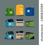cool set of vector items on... | Shutterstock .eps vector #1380820589
