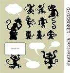 Monkey Silhouette Symbols....