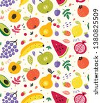 cute fruit summer seamless... | Shutterstock .eps vector #1380825509