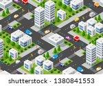 seamless urban plan pattern map.... | Shutterstock .eps vector #1380841553