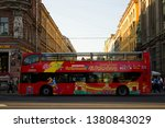 excursion bus in st. petersburg.... | Shutterstock . vector #1380843029