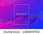 abstract background with blue... | Shutterstock .eps vector #1380859703
