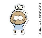 sticker of a cartoon happy old... | Shutterstock . vector #1380863453