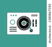 mp3 music player flat icon with ... | Shutterstock .eps vector #1380867050