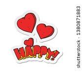 sticker of a cartoon happy... | Shutterstock . vector #1380871883