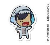 sticker of a cartoon talking...   Shutterstock . vector #1380886919