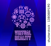 virtual reality neon background ...   Shutterstock .eps vector #1380889190