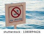 no diving. little depth and big ...   Shutterstock . vector #1380894626