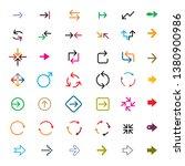 set of color vector arrows....   Shutterstock .eps vector #1380900986
