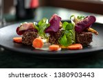 dinner standing on the table.... | Shutterstock . vector #1380903443