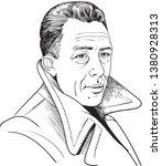 albert camus  1913 1960 ... | Shutterstock .eps vector #1380928313