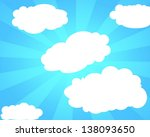 white clouds on the blue clear...   Shutterstock . vector #138093650