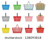 shopping baskets | Shutterstock .eps vector #138093818