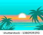 vector illustration of sunset... | Shutterstock .eps vector #1380939293