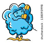 funny cartoon cloud on the...   Shutterstock .eps vector #138093998