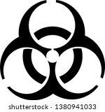 biohazard vector icon symbol on ... | Shutterstock .eps vector #1380941033