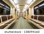 Interior View Of A Subway Car...