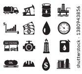 oil icons.  black flat design.... | Shutterstock .eps vector #1380943856