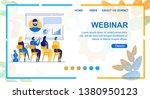 flat banner is written webinar... | Shutterstock .eps vector #1380950123