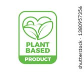 plant based organic product... | Shutterstock .eps vector #1380957356