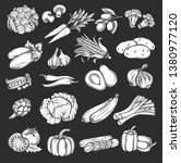 vector silhouette vegetables... | Shutterstock .eps vector #1380977120