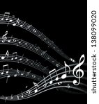 high quality vector music notes.... | Shutterstock . vector #138099020