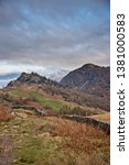castle crag and raven crag are... | Shutterstock . vector #1381000583