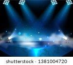 spotlights   empty scene.... | Shutterstock .eps vector #1381004720