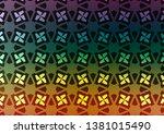 dark multicolor  rainbow vector ... | Shutterstock .eps vector #1381015490