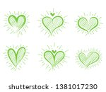 different graphic hearts... | Shutterstock .eps vector #1381017230