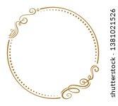 vector floral vintage frame on...   Shutterstock .eps vector #1381021526